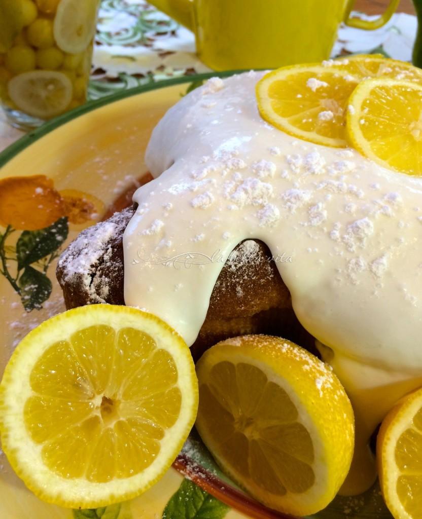 Lemon Pound Cake Limoncello Cream