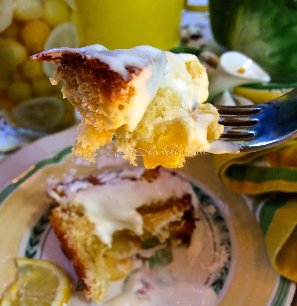 Italian Lemon Dove Cake with Limoncello Icing