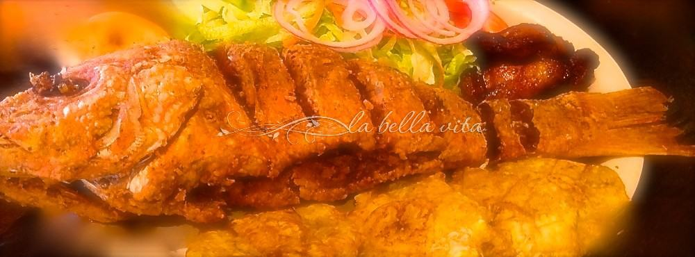 Caribbean Fried Red Snapper