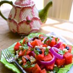 Watermelon, Gorgonzola and Basil Salad