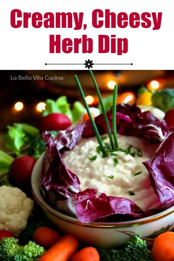 Creamy Vegetable and Chip Dip