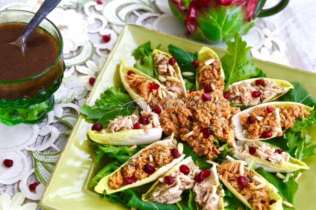 Belgian Endive Bites with Salmon and Tuna Salad