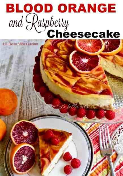Blood Orange and Raspberry Cheesecake
