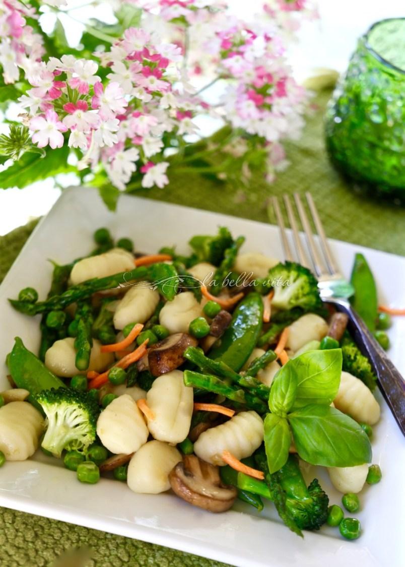 Gnocchi Primavera with Spring Asparagus and Peas