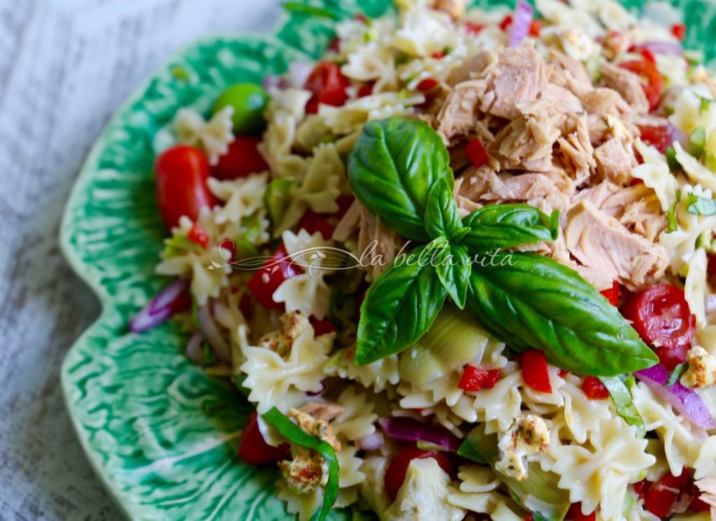 Tuna and Artichoke Pasta Salad -- Pasta Fredda, Dining Al Fresco