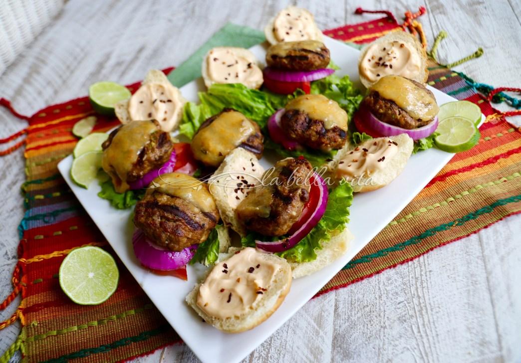 Jalapeno Cilantro Lime Turkey Burgers with Habanero Cheddar