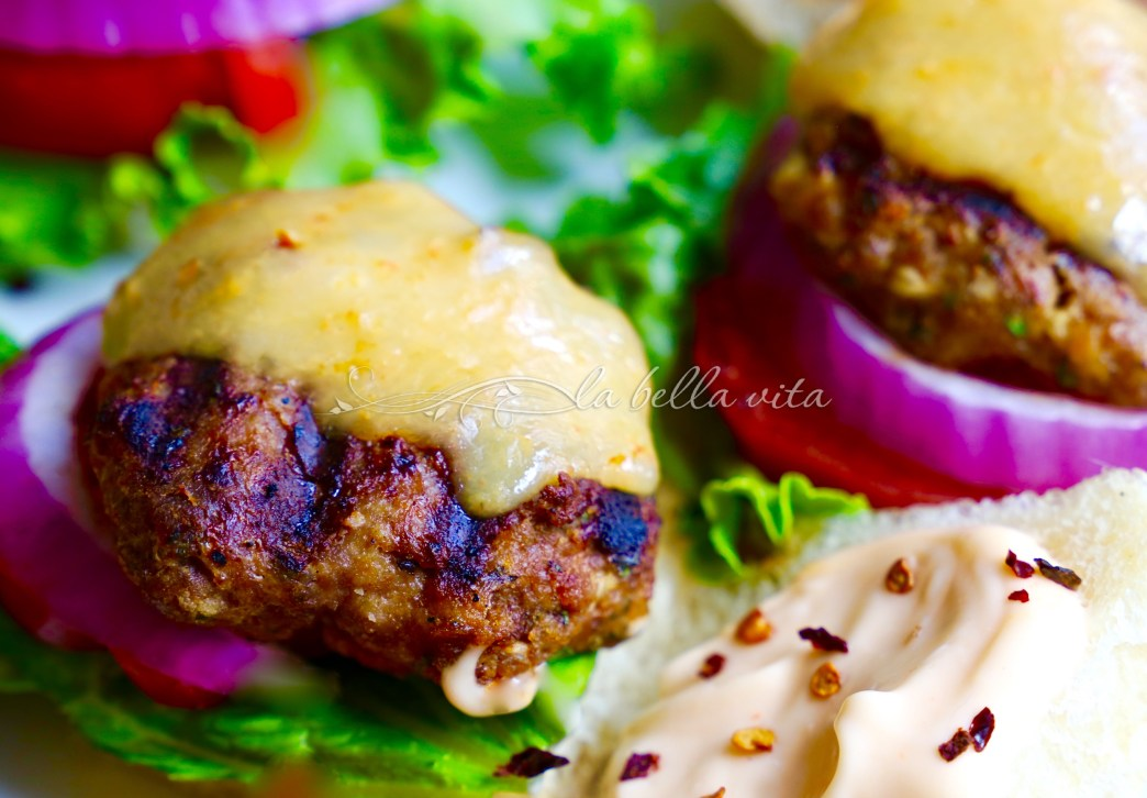 Jalapeno Cilatnro Lime Turkey Burgers with Habanero Cheddar