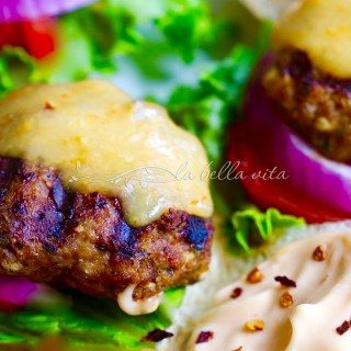 Jalapeno Cilatnro Lime Turkey Burgers with Habanero Cheddar