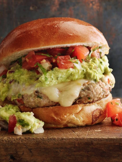Cilantro LIme Turkey Burgers with Habanero Cheddar