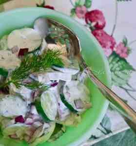 Creamy Cucumber Salad Kissed Garlic