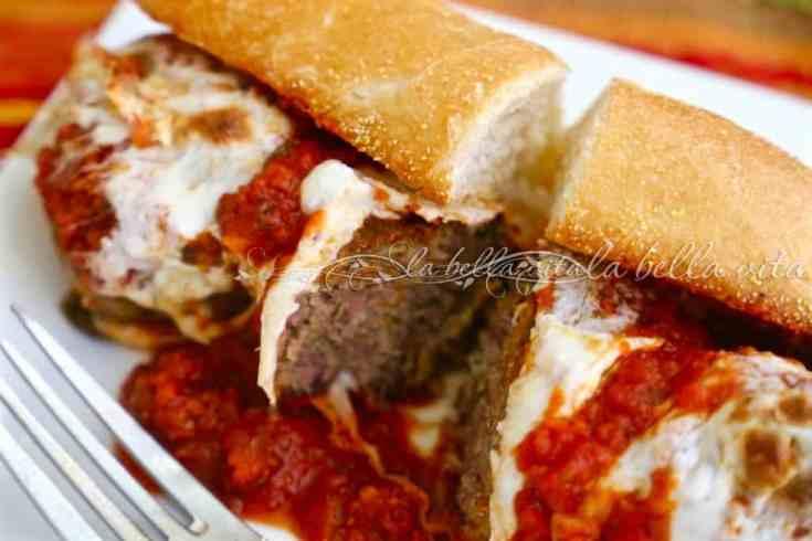 Cheesy Italian Meatball Sandwich