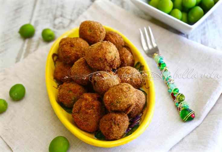 Italian Fried Stuffed Olives - Olive all' Ascolana