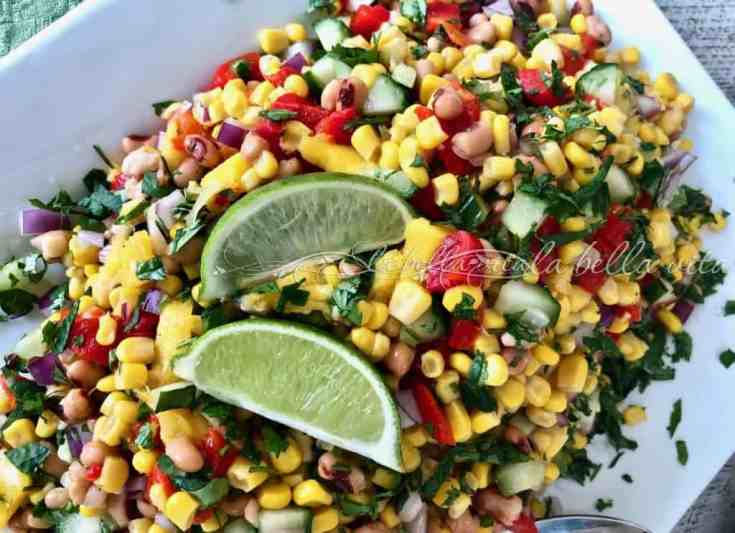Corn and Black Eyed Pea Salad