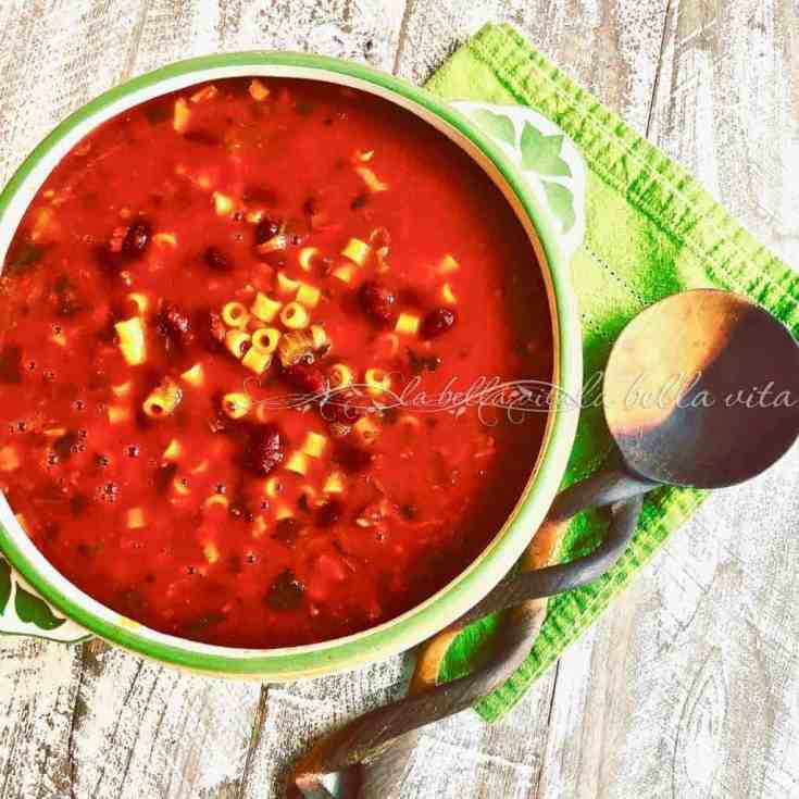Italian Pasta e Fagioli Soup ~ ~ Pasta and Bean Soup