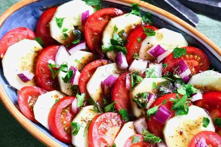 Classic Italian Tomato & Cucumber Salad