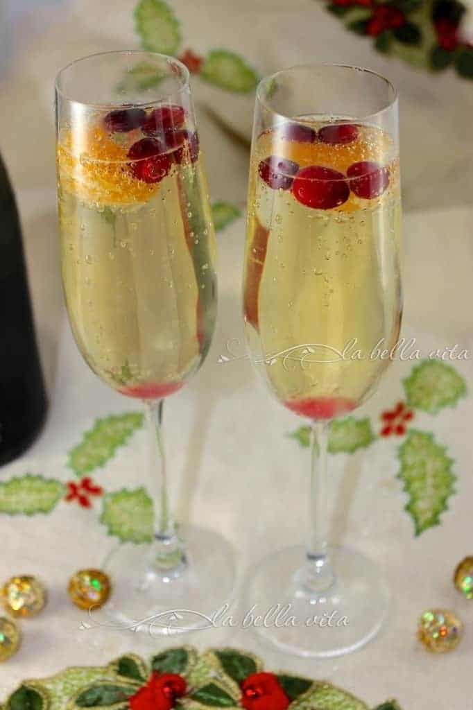 Cranberry, Clementine and Prosecco Cocktails