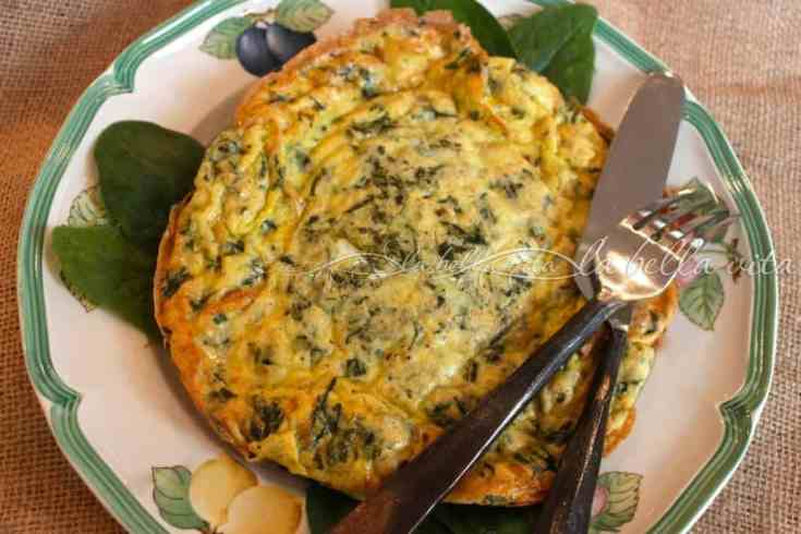 Frittata with Swiss Chard and Italian Cheese