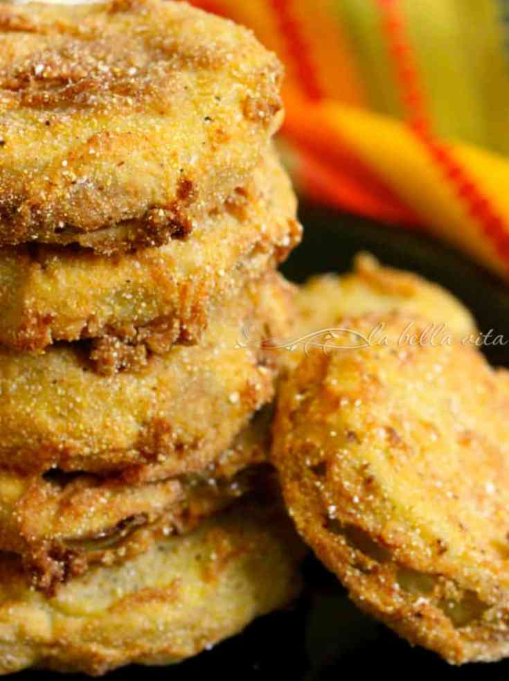 The BEST Fried Green Tomatoes with Garlic and Buttermilk Sauce