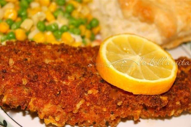 Panko and Italian Herb-Crusted Perch Filets