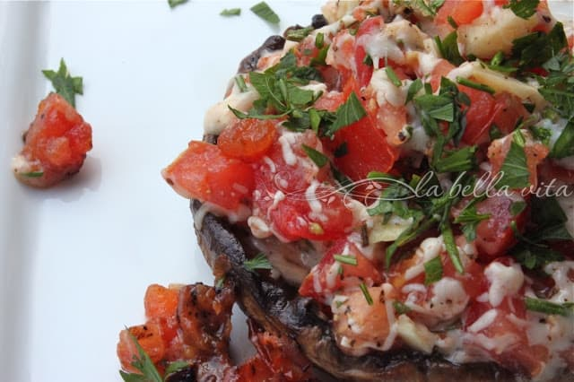 Grilled Stuffed Portabello Mushrooms
