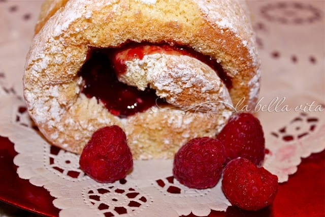 Raspberry Almond Jelly Roll