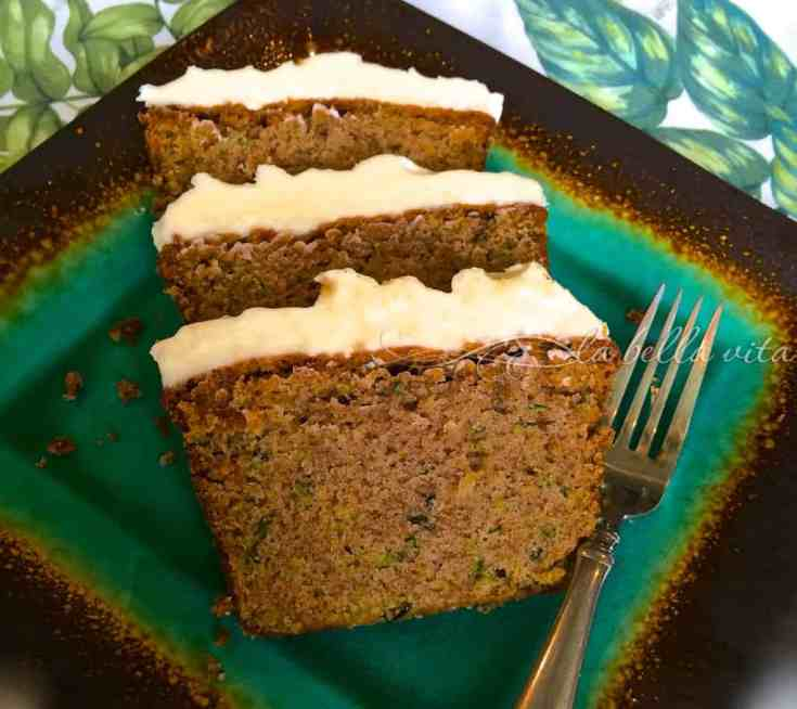 SUPER MOIST Cinnamon Zucchini Cake with Cream Cheese Frosting
