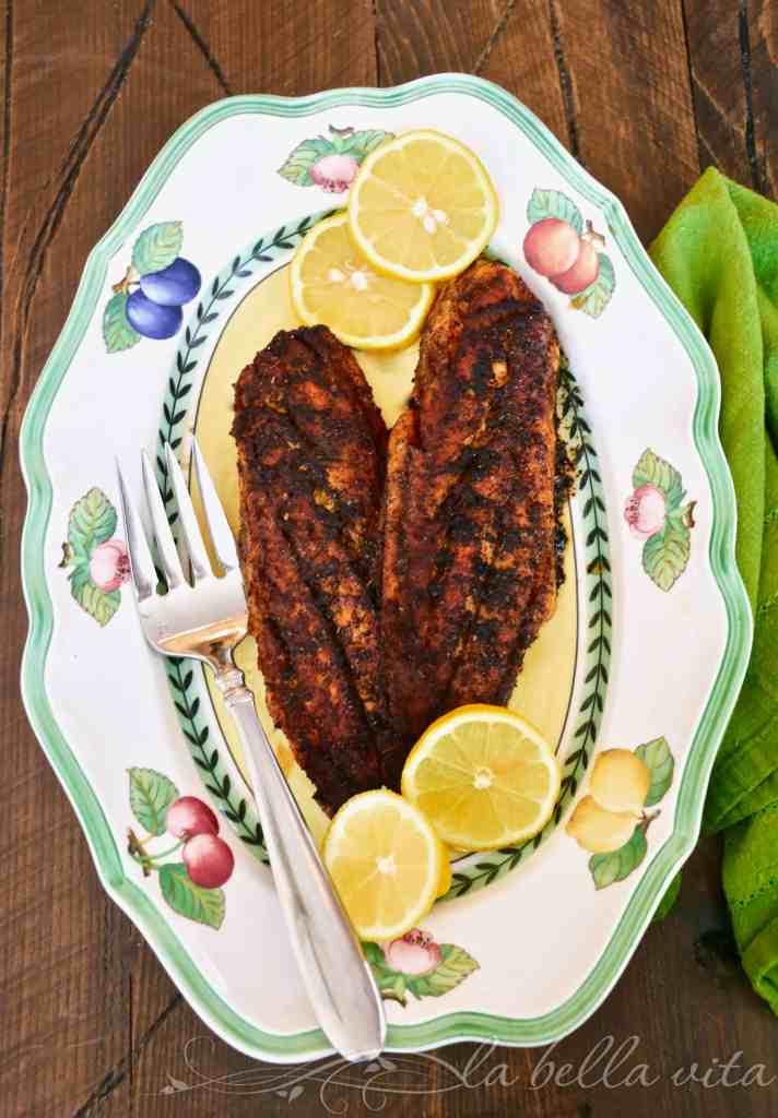 Perfect Garlic Butter Blackened Redfish