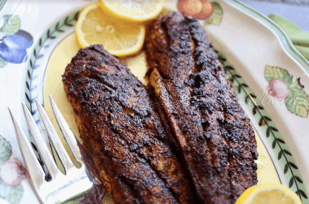 Perfect Garlic Butter Blackened Redfish