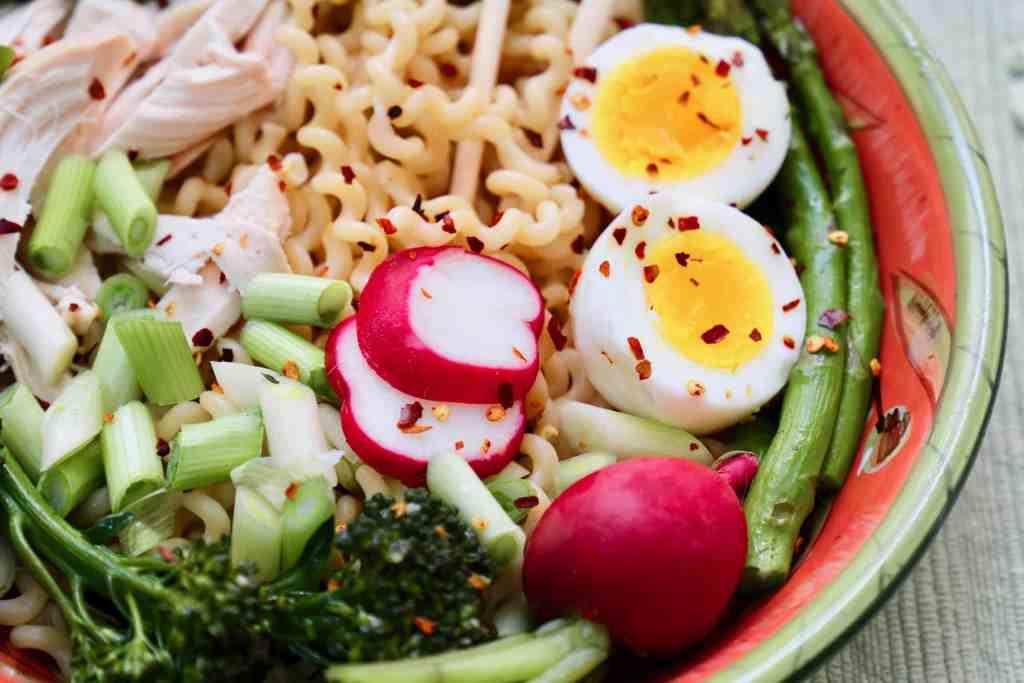Italian-Style Chicken Ramen Noodle Bowl