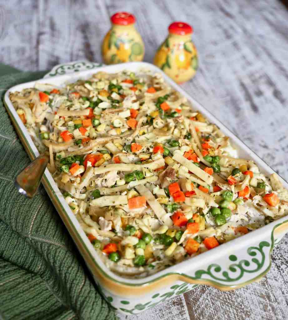 Creamy Chicken Noodle Casserole with NO Canned Soup