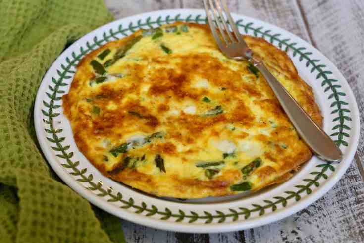 Frittata with Asparagus and Fontina