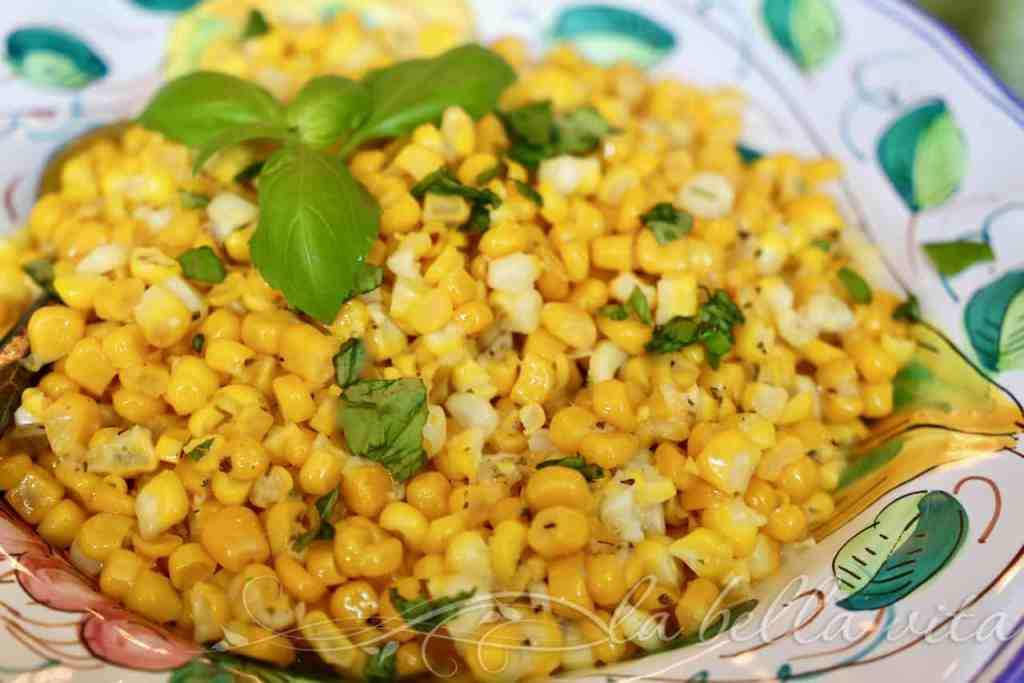 Cheesy Pecorino Corn with Italian Herbs