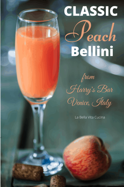 Classic Bellini from Venice, Italy