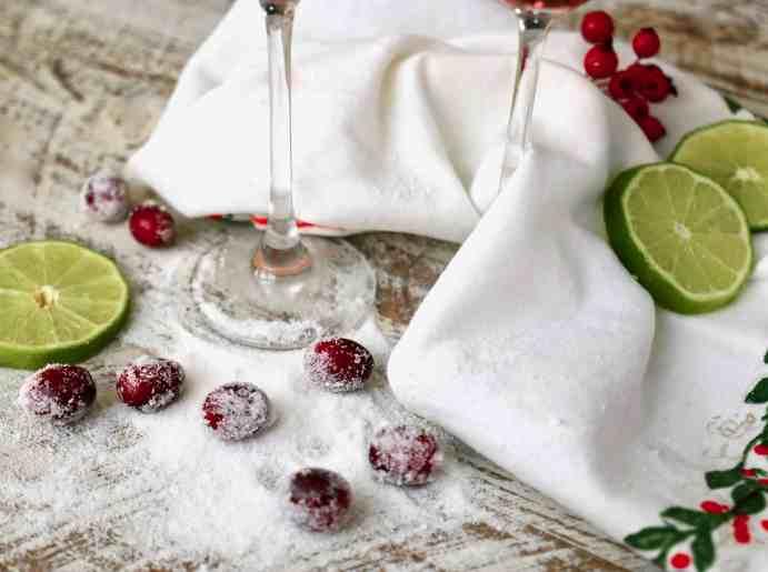 Cranberry and Pomegranate Bellini