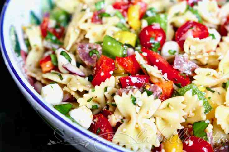 Easy Fresh Tomato Pasta Salad with Cheese and Herbs