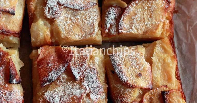 A creamy apple pie to say hello again