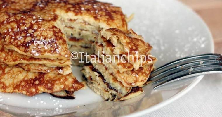 Irresistible banana pancakes, no flour, no butter