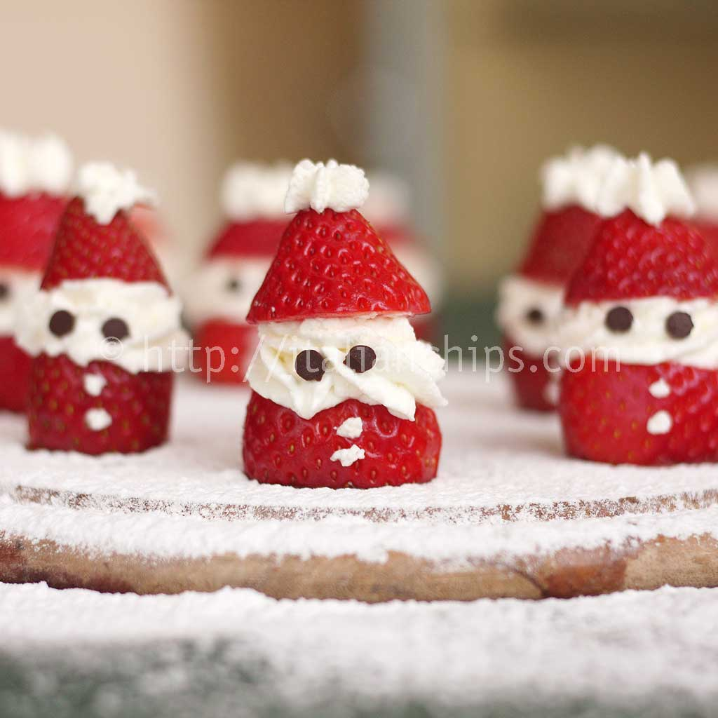 Strawberries and Cream Santa Claus