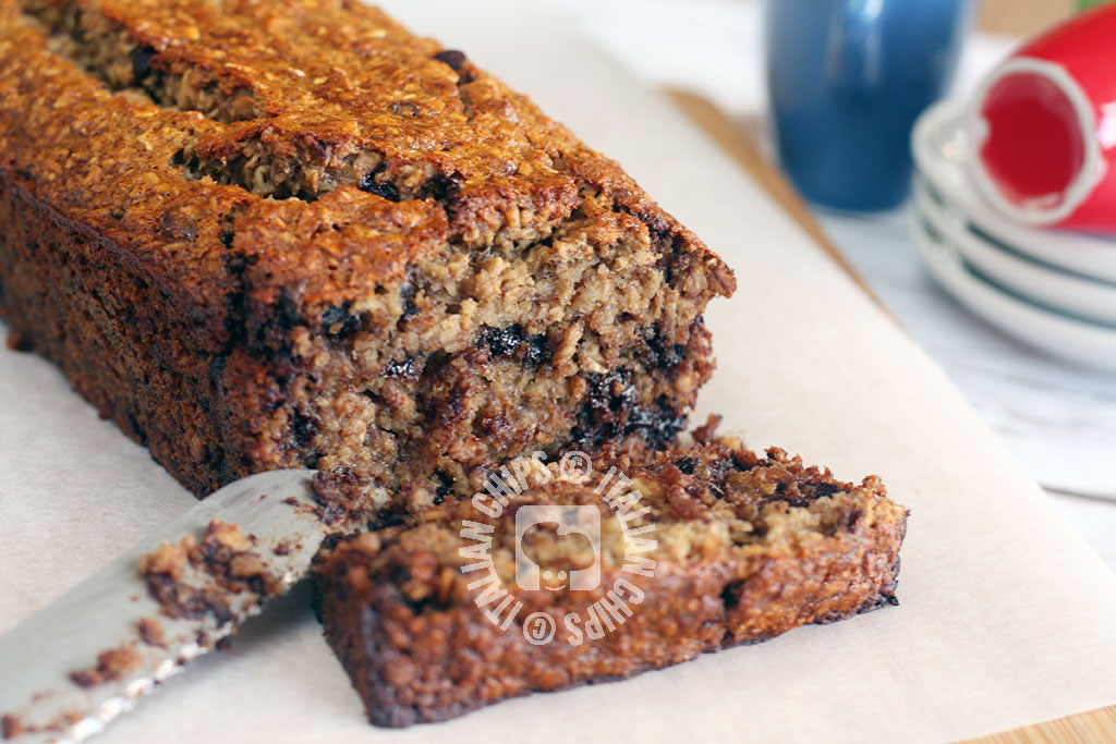 Vegan chocolate chip banana bread it is also gluten free chocolate chip banana bread recipe forumfinder Image collections