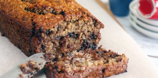 chocolate chip banana bread recipe