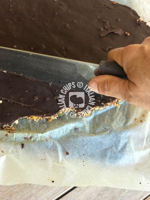quinoa and chocolate brittle