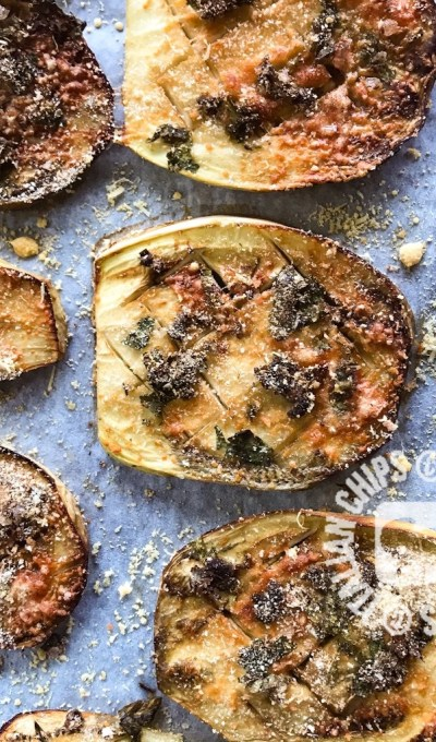 ROASTED EGGPLANT WITH CAPERS