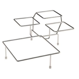 chrome plated serving stand