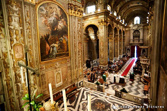 catholic wedding ceremony in Torino