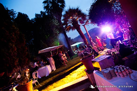 outdoor wedding reception in Piemonte Italy