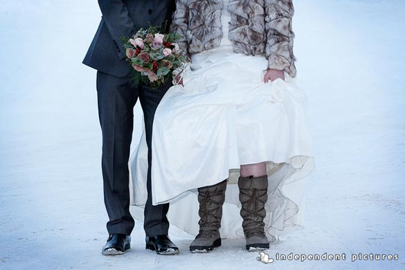 winter wedding on Alps of Italy