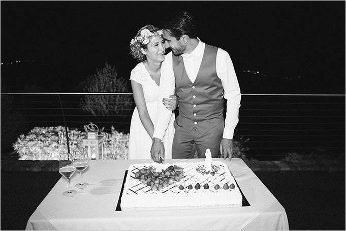 wedding reception Italian vineyards