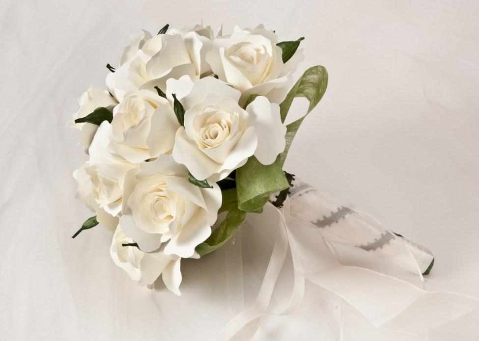 Bouquet Monica Dal Molin tutto bianco