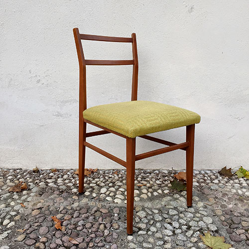 Dining Chairs In The Style Of Superleggera By Giò Ponti For Cassina, 60s,  Set