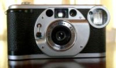 Vista frontale della fotocamera